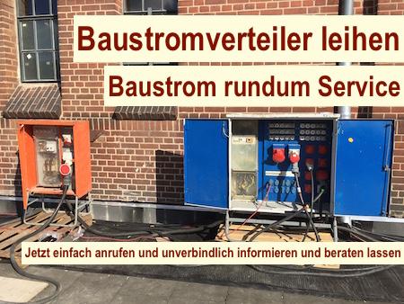 Baustellenstrom Berlin - Baustromversorgung Baustromverteiler leihen