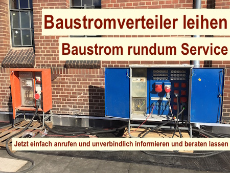 Baustromversorgung Berlin - Baustromverteiler leihen
