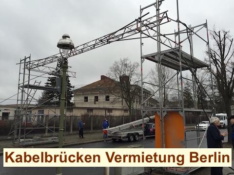 Kabelbrücke Strassenüberführung Berlin - Baustrom - Kabelbrücken Vermietung